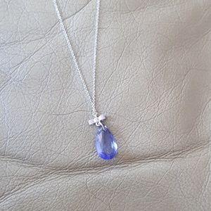 NWOT Swarovski pendant bow necklace